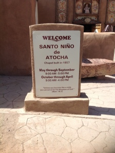 Bienvenida capilla Santo Niño de Atocha, Chimayó, NM, 2013