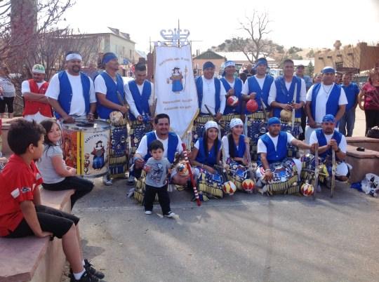 Grupo 1  interpretadores danza Sto. Niño de Atocha, Chimayó, NM 2013