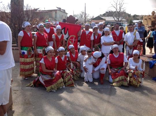 Grupo 2  interpretadores danza Sto. Niño de Atocha, Chimayó, NM 2013