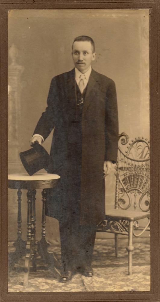 Licenciado Amador Castañeda Jaimes (1871-1934), Ex-Gobernador Interino de Hidalgo, México  1912 (1/6)