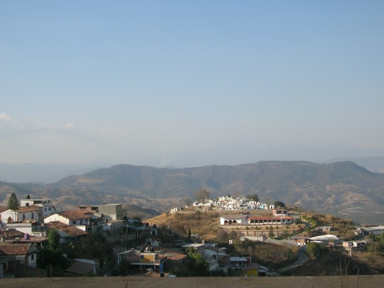 Cementerio desde Zacualpan