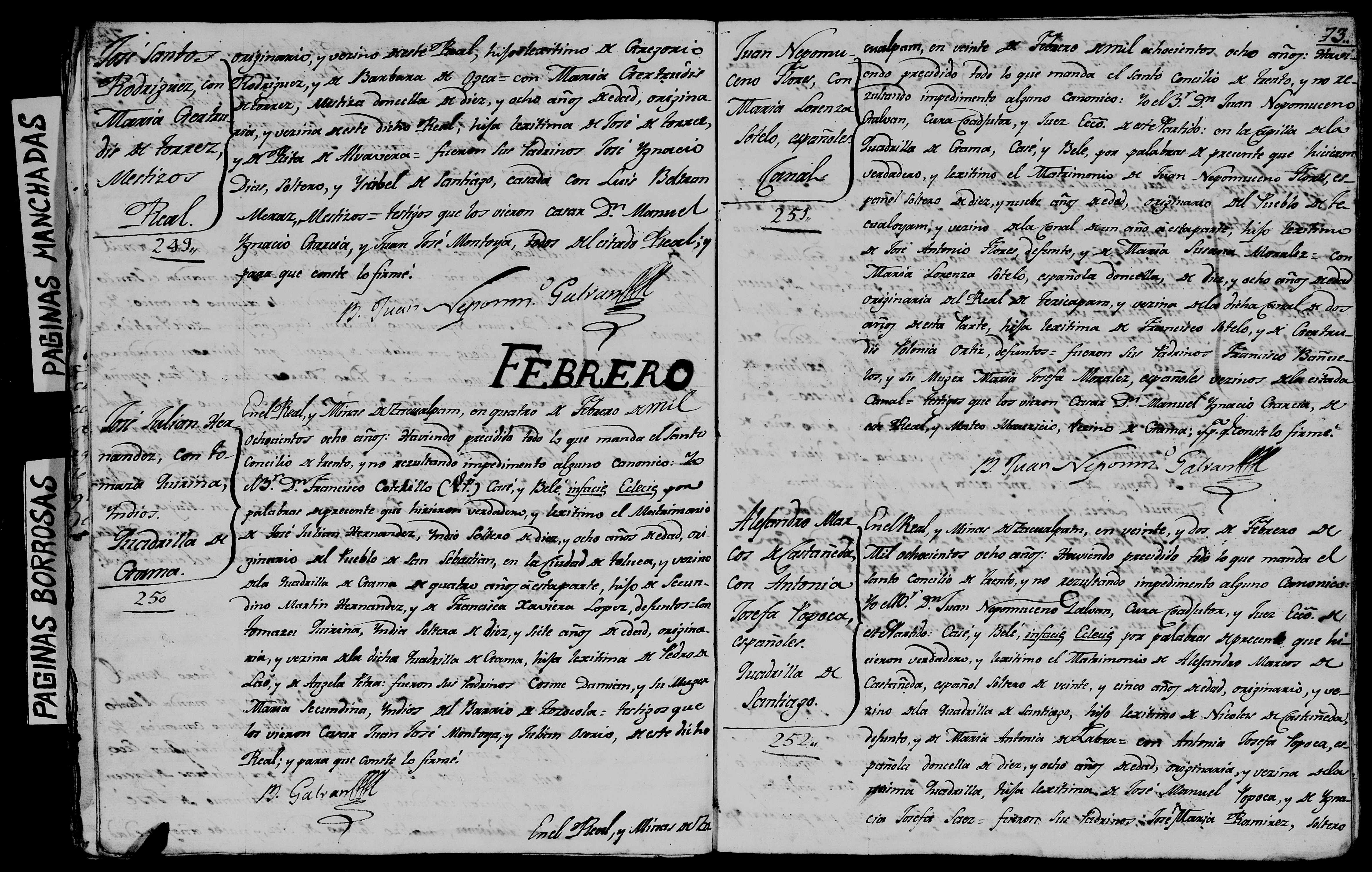 Los Padrones de La Inmaculada Concepción, 1834, Zacualpan, Edo. de ...