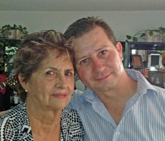Laura Luna e hijo Aurelio Héctor, 2014