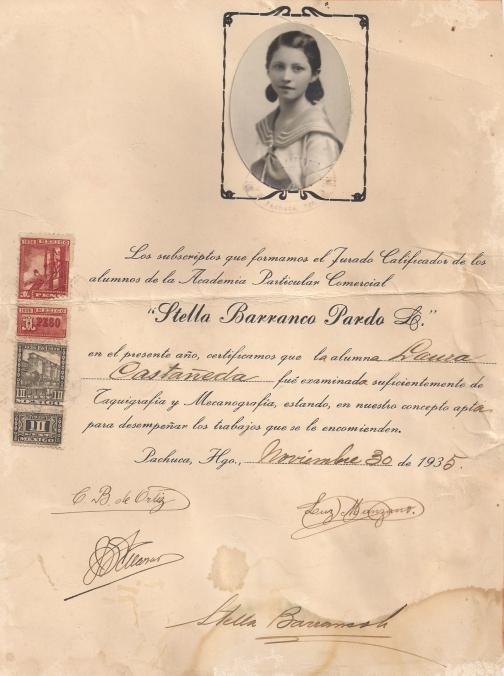Laura Soledad Castañeda Islas, 1918-1942