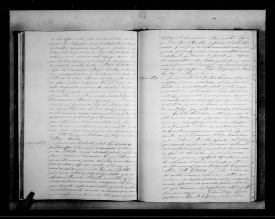 Acta defunción, homicicio  Eulalio Castañeda Morales 9 sep 1874