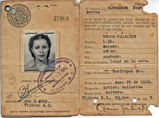 Tarjeta–pasaporte 27898. Firma B. Irman